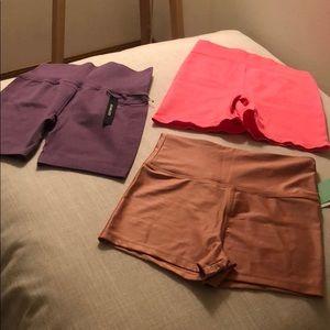 2 Active shorts athletic shorts forever 21 bundle